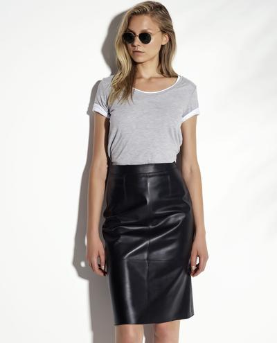 Aphrodite Lux Plonge Leather Skirt 1010029271013