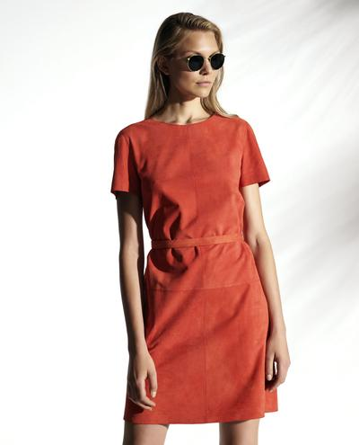 Phaedra Light Suede Dress With Thin Belt 1010029338059