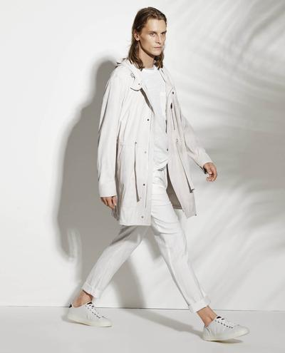 Maurio Light Suede Trenchcoat With Hood 1010029330007