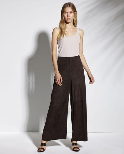 Iris Wide Leg Light Suede Pants 1010029264108