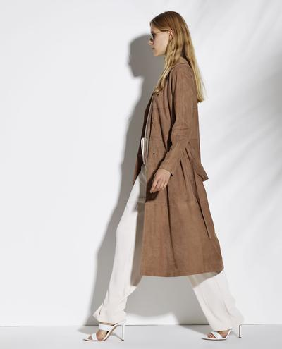 Atlanta Light Suede Trenchcoat 1010029272051