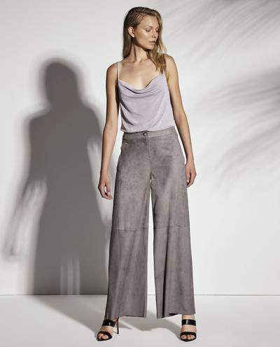 Iris Wide Leg Light Suede Pants 1010029264072