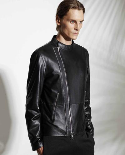 Marcio Leather Biker Jacket 1010029257067