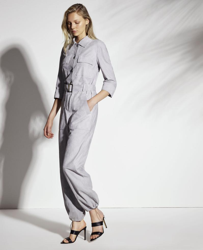 Horus Light Suede Jumpsuit with Belt 1010029281008