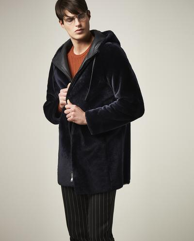 Virgilio Long Shearling Hooded Coat 1010028414008