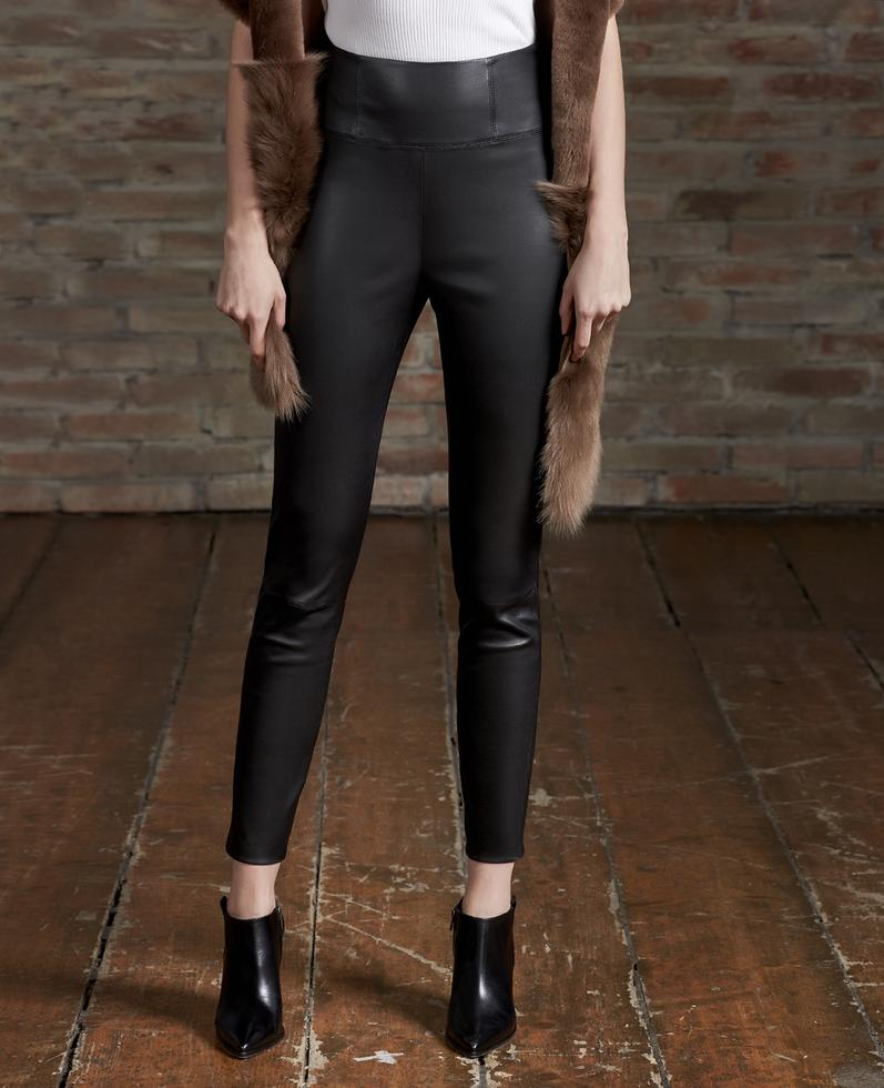 Barbara Stretch Leather Pants 1010028697005