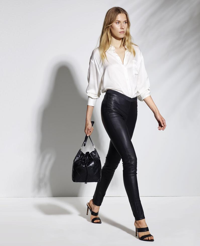 Scylla Stretch Leather Pants 1010029230025