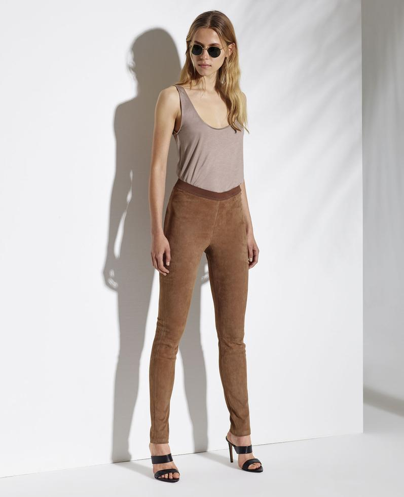 Circe Suede Stretch Leather Pants 1010029229006