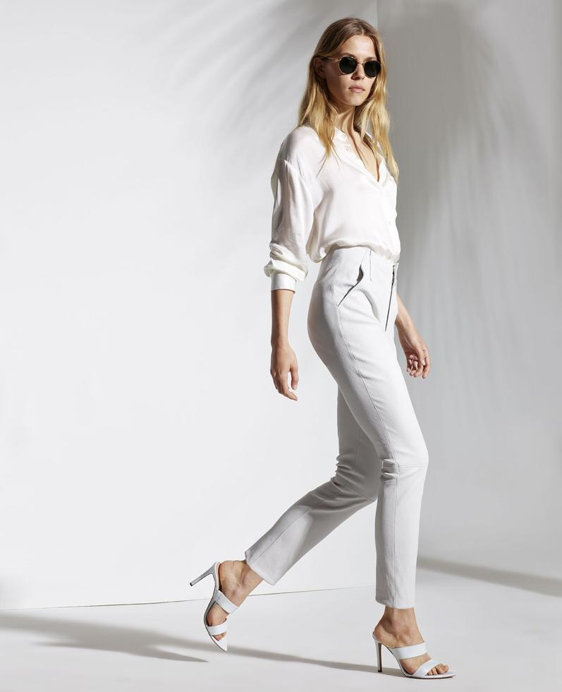 Anthea Stretch Leather Pants 1010029269001