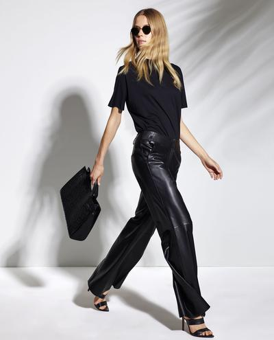 Adrasteia Wide Leg Leather Pants 1010029268013