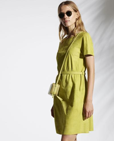 Phaedra Light Suede Dress With Thin Belt 1010029338090