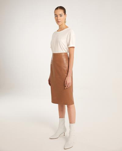 Sofia Leather Skirt | K12491 1010031035016