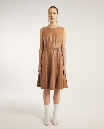 Iris Leather Dress | K12714 1010031076014