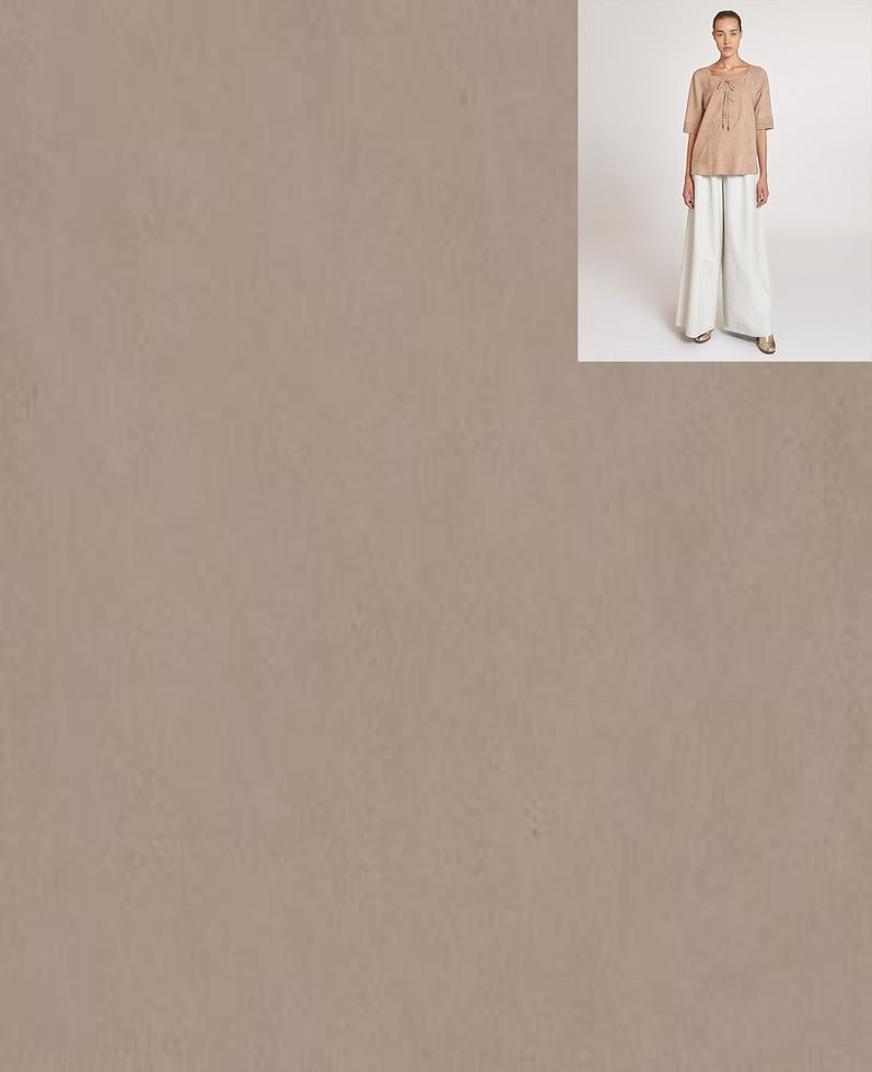 Theia Suede Blouse | K12763 1010031303004