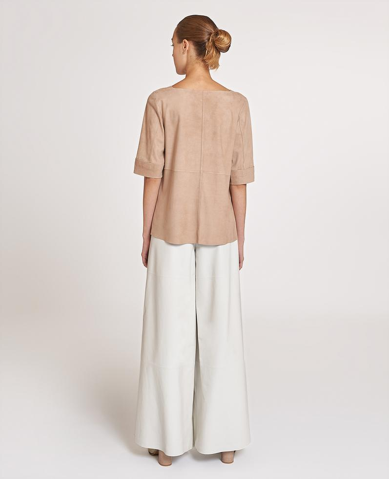Theia Suede Blouse | K12763 1010031303066