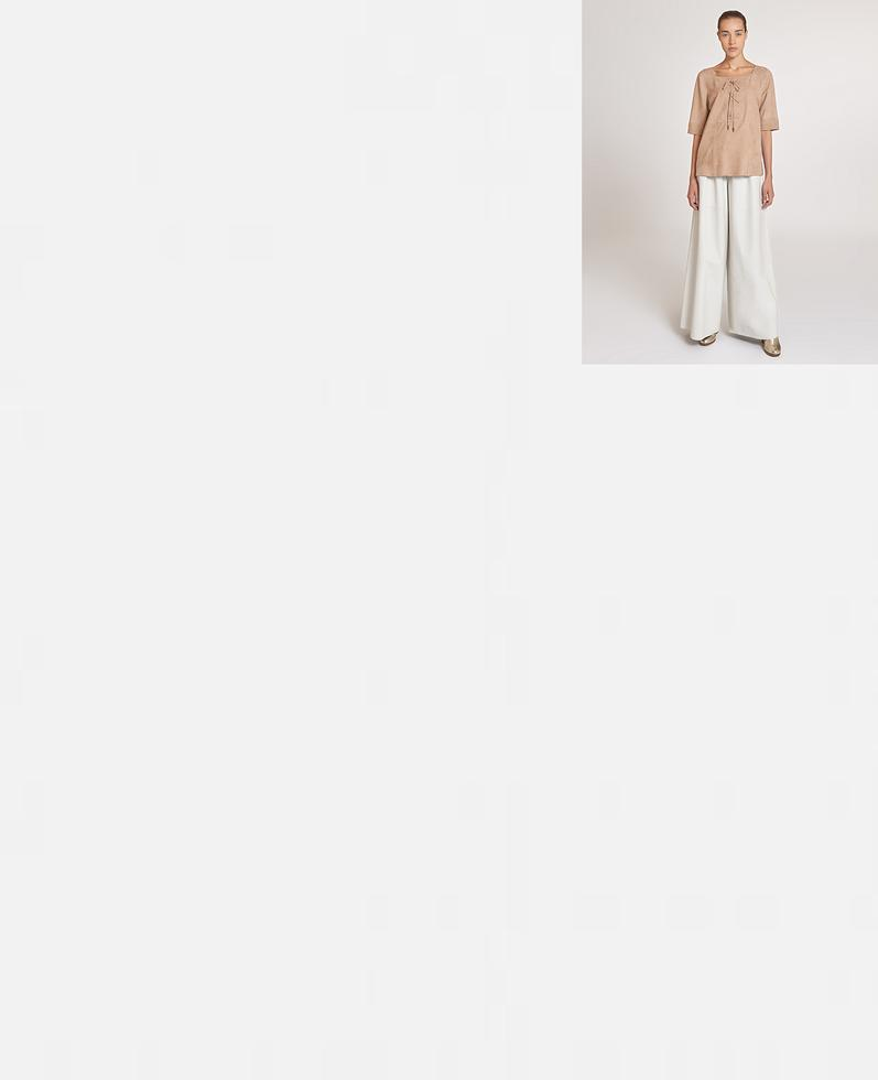 Theia Suede Blouse | K12763 1010031303099