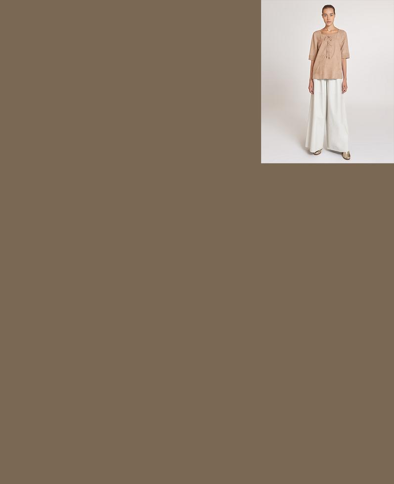 Theia Suede Blouse | K12763 1010031303090