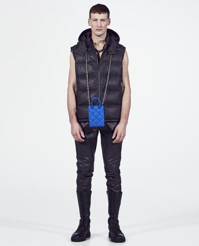 Quilted Leather Vest   K13014 1010031709079